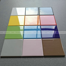 Foshan hotsale small size 100x100 Blue color Gloss kitchen wall tile ceramic new SW1160