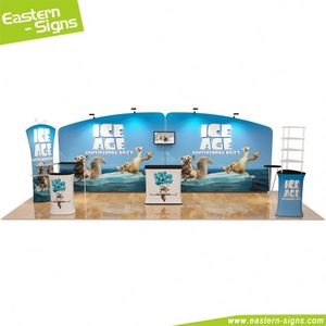 Best selling products tension fabric display trade show wrinkle free exhibition truss booth stand