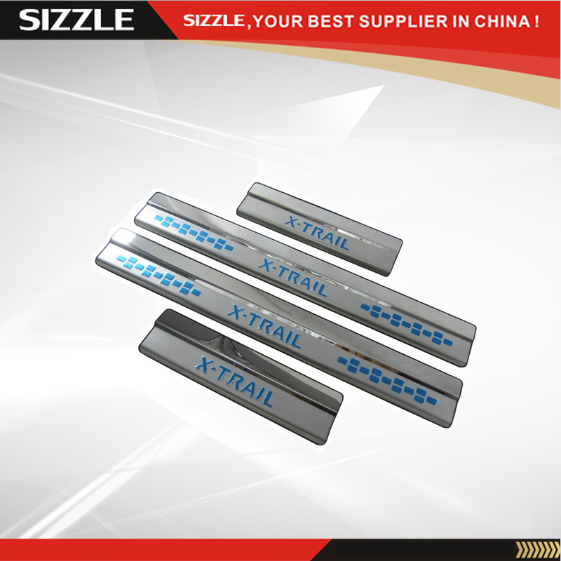 Stainless Steel Car Door Sill Scuff Plate For X-TRAIL 2014
