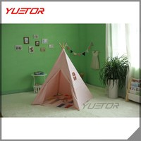 Kids Tent Teepee Toy Fun Fort Canvas Wigwam Play Kids indoor