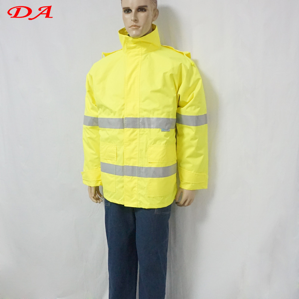 Water proof Traffic Police Windproof Reflective Extreme High Visibility Winter Jacket