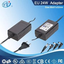 desktop 24w power supply input 100-240v 50-60hz for led and computer