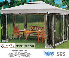 Luxury 3X3m Aluminum patio pavilion side curtains garden gazebo