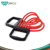 The portable rally five rubber chest expander fitness equipment yoga gym sports strength training resistance pull rope