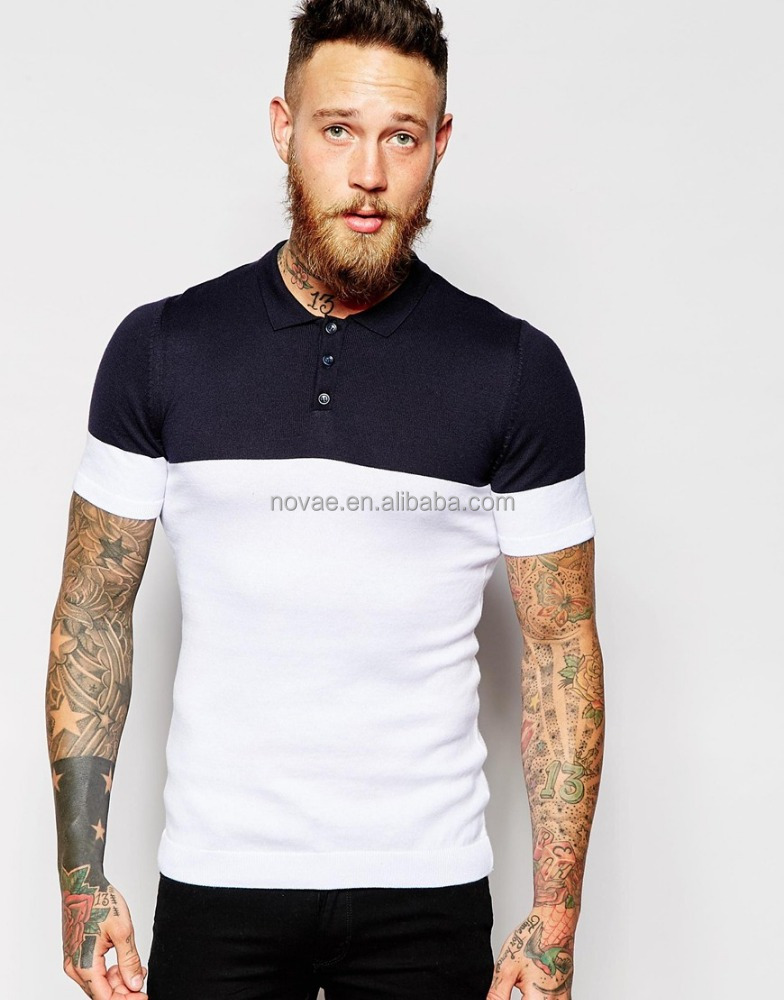 Mens brand 100 cotton polo shirt knit polo fabric two for Mens cotton polo shirts