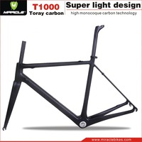 Cheap bicycle parts carbon racing bike frame, BB30/BSA carbon raw bicycle frame road bike supply