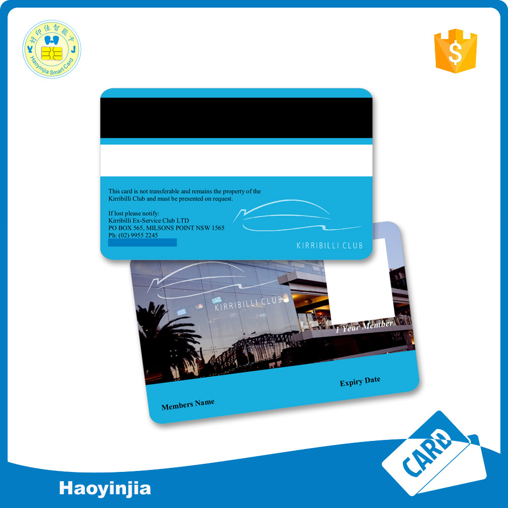 Glossy offset printing blank pvc id card samples with number