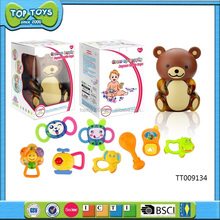 bear packing baby toys cartoon baby bed bell baby rattle toys