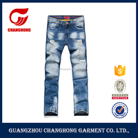 Fashion casual jeans men's skinny jeans patchwork denim trousers ripped new model jeans