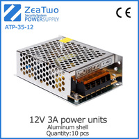 Metal shell power switching equipment 12v 3a power supply unit power supply unit for pc