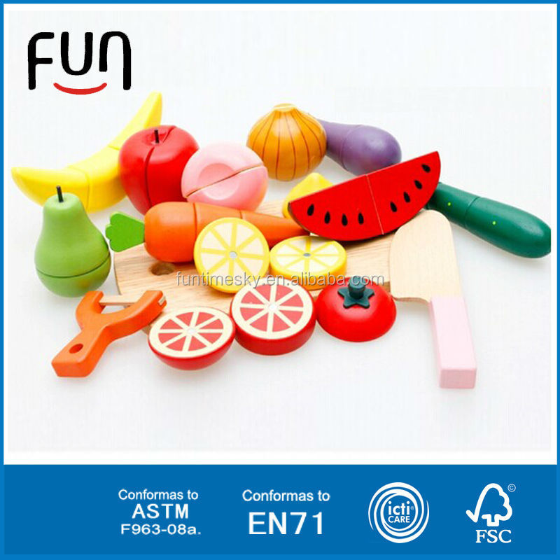 2014 colorful wooden toys fruits and vegetables AT11562