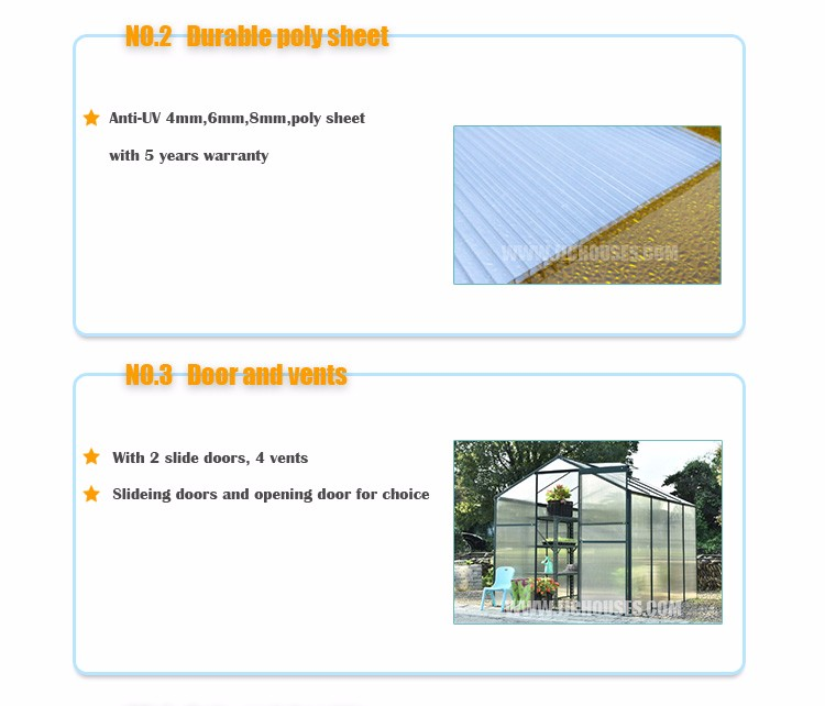 Flower Plant greenhouse tent,high quality galvanized steel frame greenhouse,greenhouse poland style Easily assembled