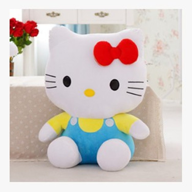 adorable red bow doll with clothes cat plush furry toy stuffed animals