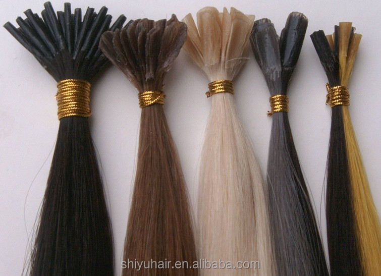 Factory Price Human Hair U-tip Hair Extension nail hair extension