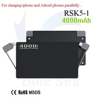Electronic gadgets solar power banks power bank mobile with low price RSK5-1