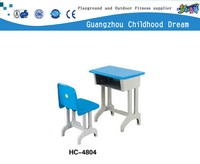 (HC-4804) Single kids used school desk chair chair writing desk