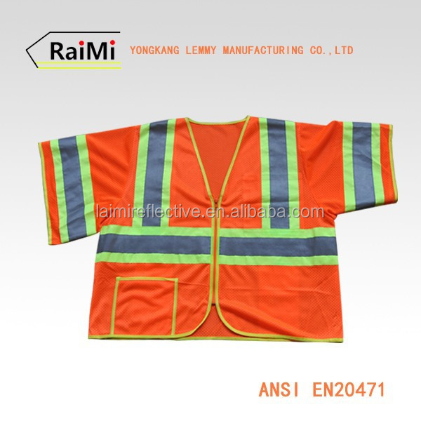 ANSI class3 Wholesale Reflective Safety Vests Camo Fishing Vest Travel Vest Multi pocket