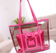 transparent pvc beach bag rubber beach bag