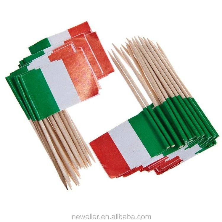 Best Selling new style fashion paper flag with stick in China
