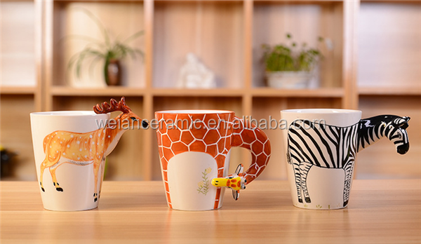 400ml giraffe shape ceramic mugs