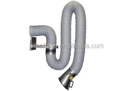 loobo Flexible smoke suction arm/welding fume extraction hood/welding smoke suction arm