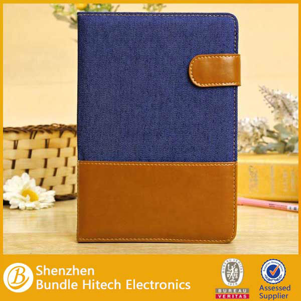 New series jeans case for ipad mini ,PU+ Jeans cloths