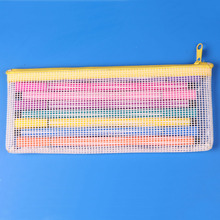 PVC Material and Bag Type expandable plastic mesh PVC vinyl zipper make up pouch