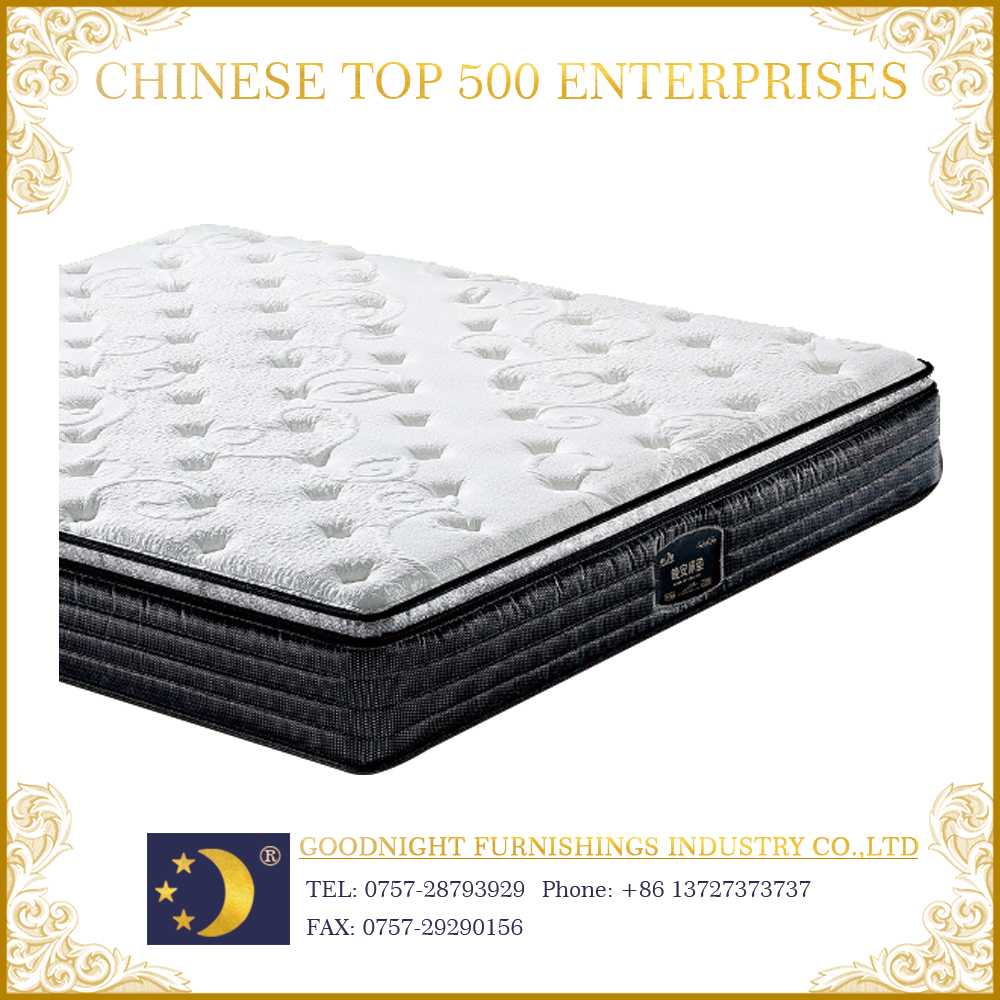 Customized bedroom furniture WA705 latex pocket coil mattress