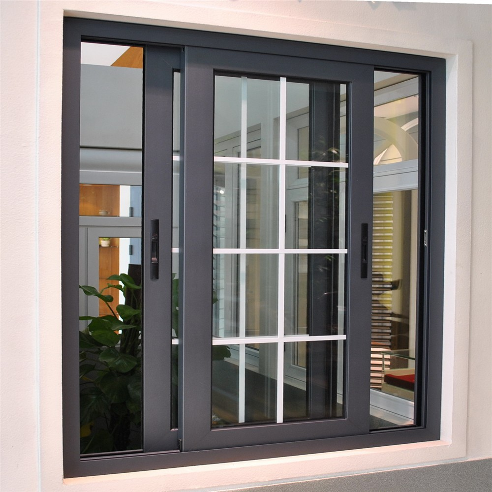 New design aluminum sliding window with sub frame buy for Sliding glass wall price