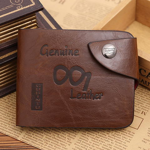 Hot Sale fashion men wallets, 10 Patterns Optional quality hasp casual brown credit card holders purse wallet men