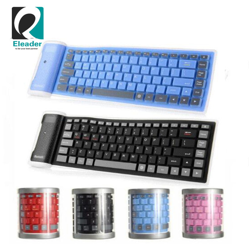 Universal folding silicone waterproof bluetooth keyboard