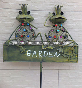 wrought iron frog stake animal decoration animal garden sign decorative items wholesale