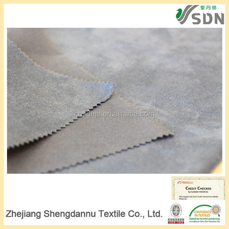 Low price terry cloth OEM 100% polyester suede upholstery fabric