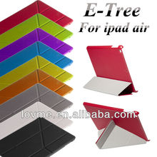 origami pu leather case stand smart case for apple ipad air