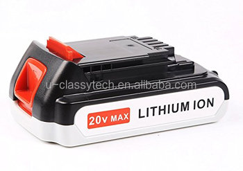 20V 2.0Ah Lithium Ion Replacement Battery for Black & Decker LBXR2020-OPE LB20 LBX20 LBXR20 Cordless Tool Battery