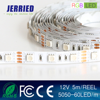 DC12v smd 5050RGB 14.4w/m led strip light 60leds IP20 with CE ROHS