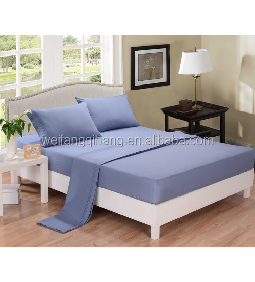 wholesales cheap 100% polyester microfiber bed sheet set