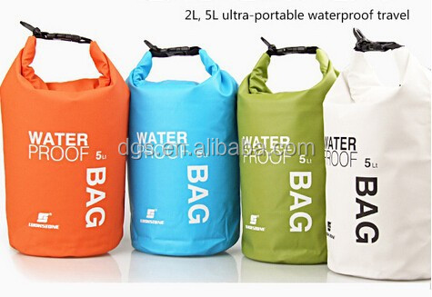 New design 2L 5L10L waterproof dry bag with your custom logo for swimming drifting