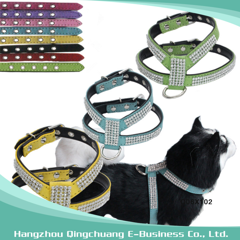 Pet Dog Rhinestone Harness For Small Middle Dogs