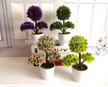 wholesale Home ornamental small artificial topiary plants bonsai