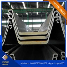 Steel Material U style hot rolled Larssen sheet pile