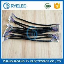 high quality DF19G-20S-1C plug to DF14-20S-1.25C lvds cable assembly