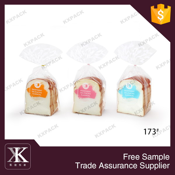 Disposable Bakery Packaging Customized Plastic Bag For Toast Packing