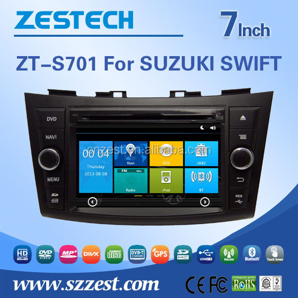 Car aduio car car gps navigaiton system for Suzuki Swift car DVD player auto radio system with Rearview camera