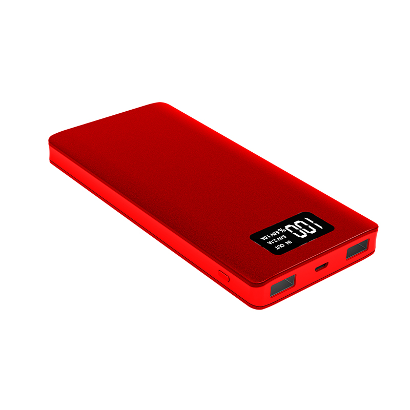 Customized Capacity 10000Mah Rose Red Polymer Battery Portable Large Capacity Solar Power Bank