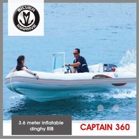 Silver Marine 3.6 meter Rigid hull inflatable rib boat (Captain 360) Hypalon
