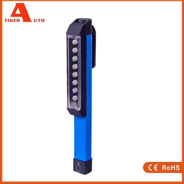 Manufacturer Pocket Pen Shape LED portable work lamp with Magnetic Rotate Clip