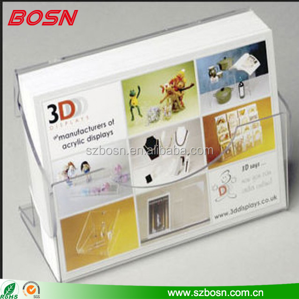 Wholesale crystal plastic acrylic business card holder box for office