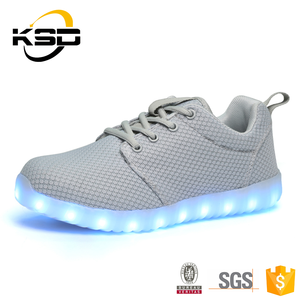 Chargeable Flashing Light Up Fashion Adults Led Shoes Sneaker For Men Women