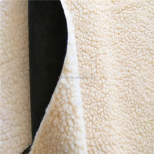 100 polyester synthetic cheap sherpa suede fabric